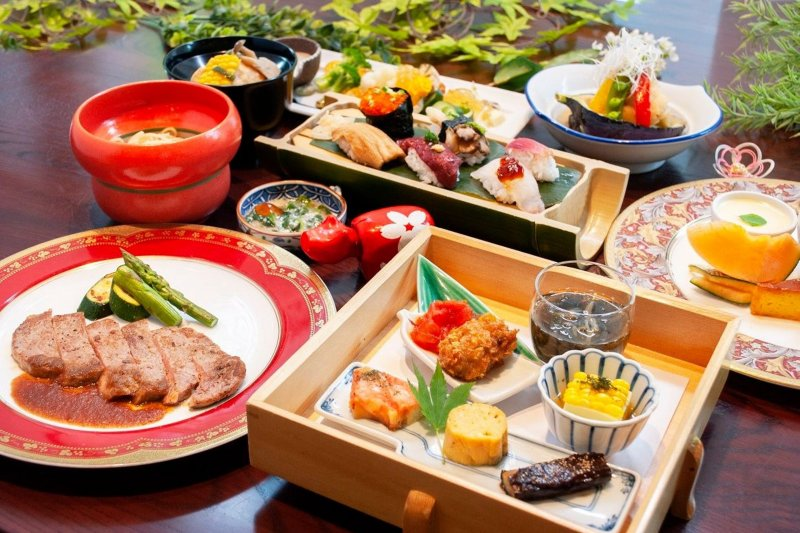 Japanese course meals cooked with all local and fresh ingredients.